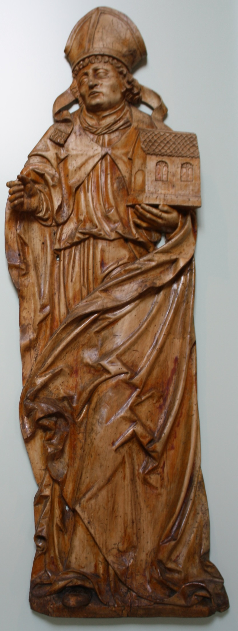 Flachrelief: Hl. Wolfgang (Dominikanermuseum Rottweil CC BY-NC-SA)