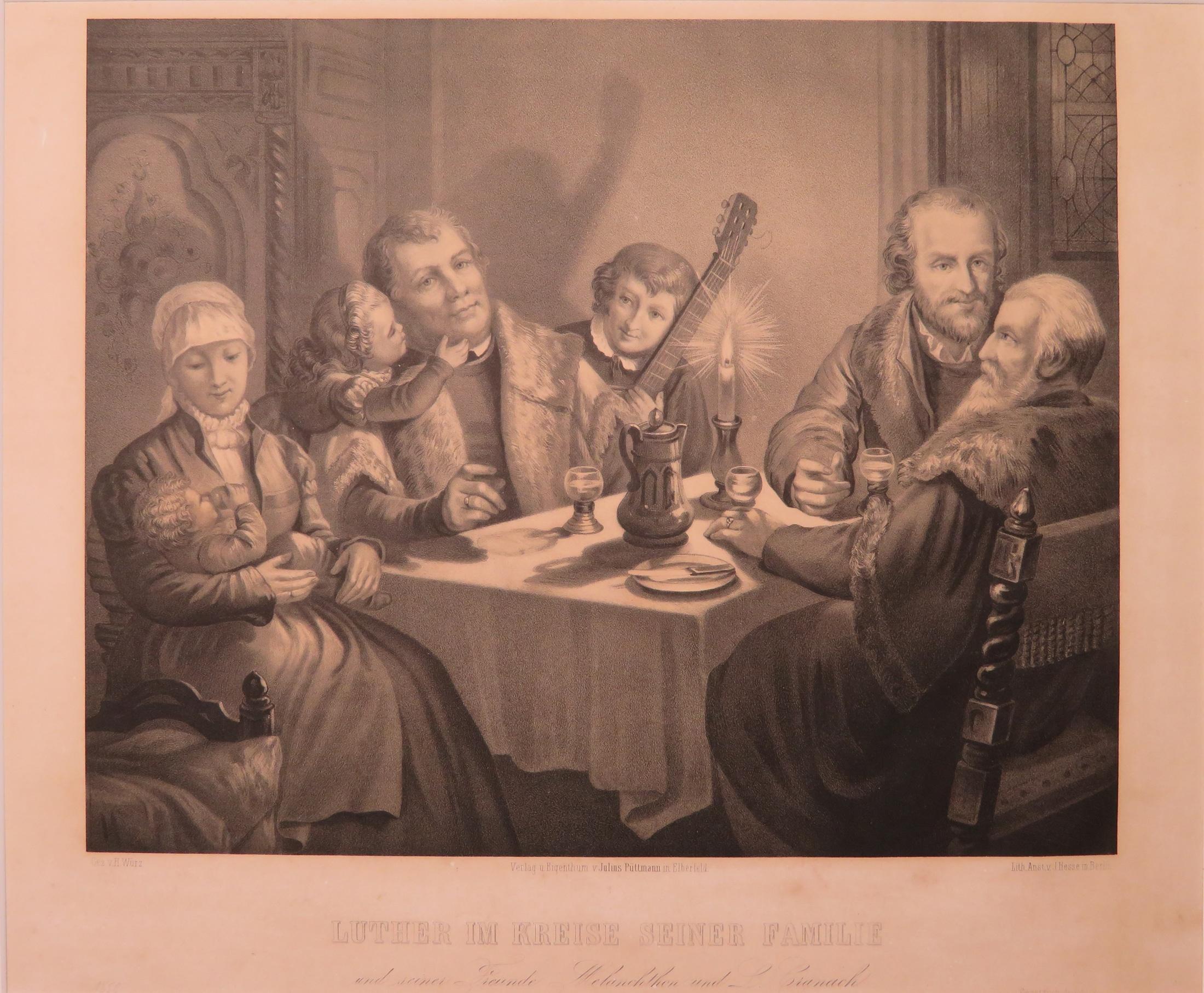 Luther Im Kreise Seiner Familie Und Seiner Freunde Melanchthon Und L