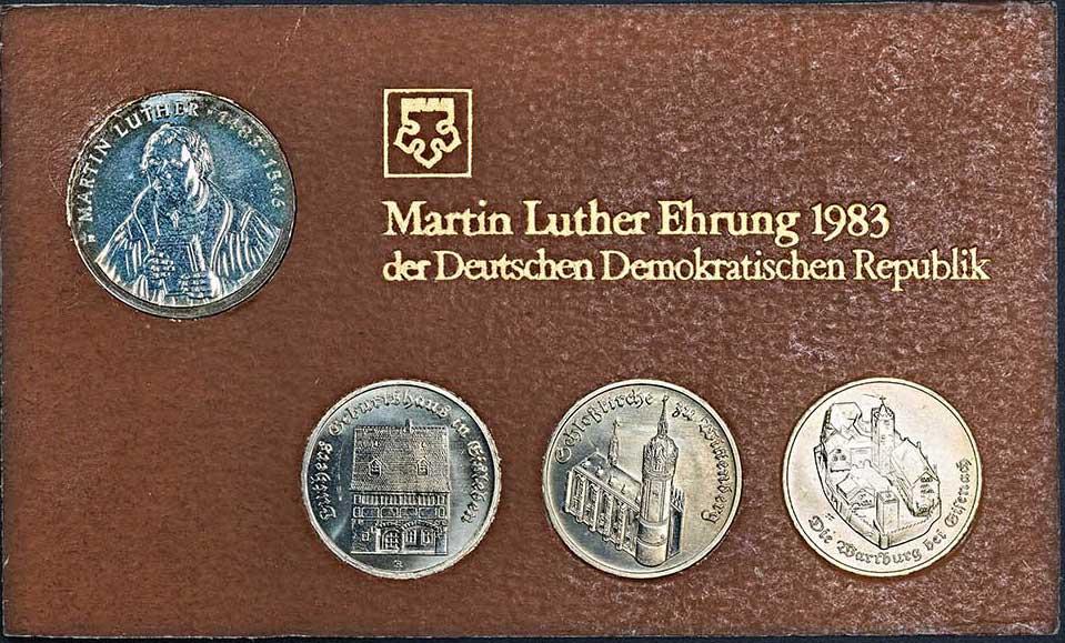 5 Mark Aus Der Münzen Reihe Martin Luther Ehrung Der Deutschen
