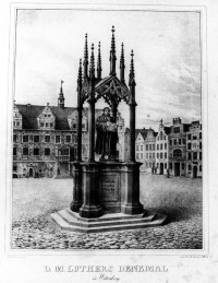 D. M. Luthers Denkmal in Wittenberg