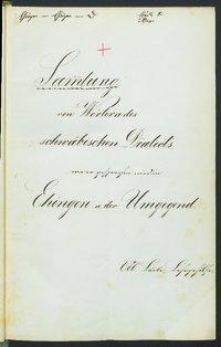 Sprachaufsatz aus Ehingen OA Ehingen [Quelle: Landesmuseum Württemberg]