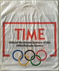 "Einkaufstüte ""Time … 1992 Olympic Games"""